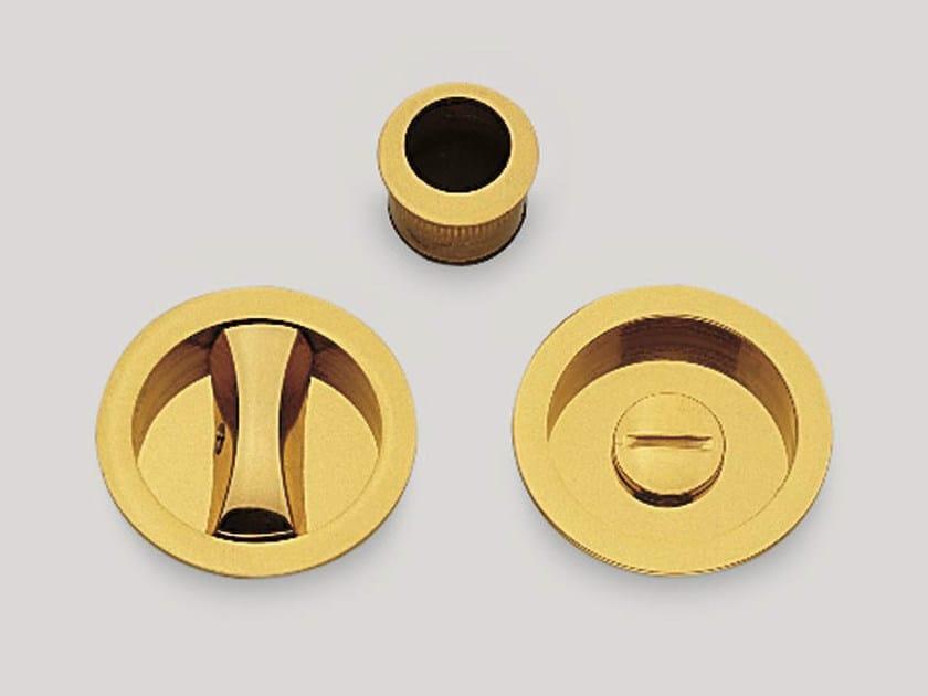 Recessed brass door handle KIT E by Frascio