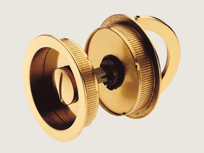 Recessed brass door handle KIT P by Frascio