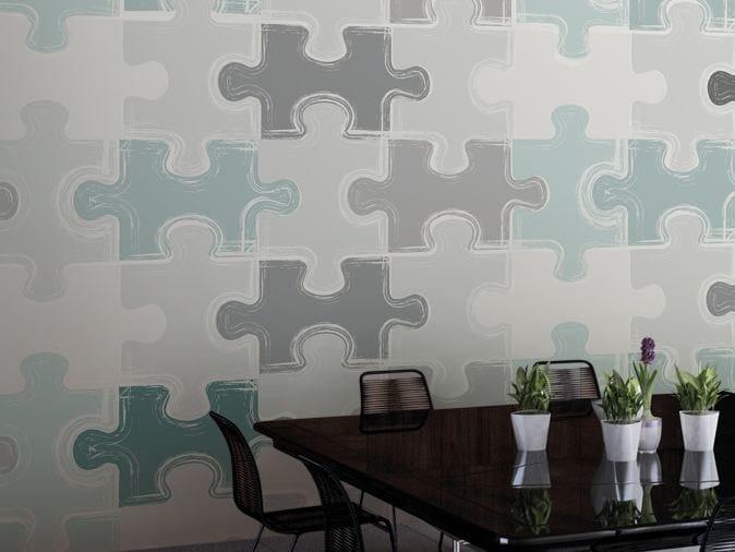 Motif vinyl wallpaper PUZZLE by GLAMORA