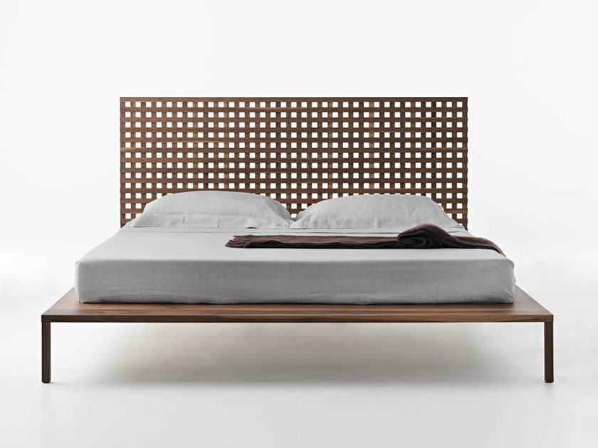 Walnut double bed TWINE | Double bed by Casamania & Horm