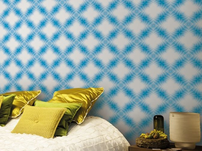 Optical vinyl wallpaper SUPERCELL by GLAMORA