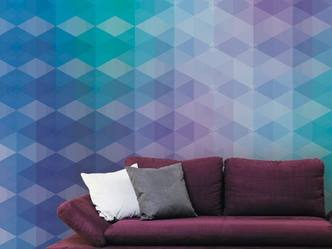 Optical vinyl wallpaper PHAZE by GLAMORA