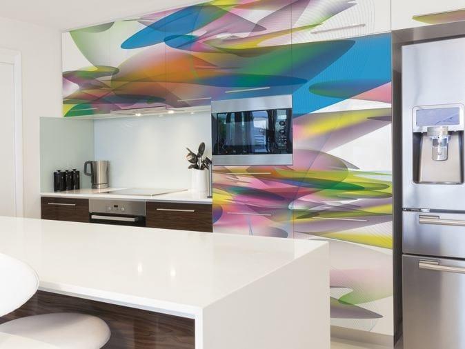 Optical vinyl wallpaper FLOOID by GLAMORA