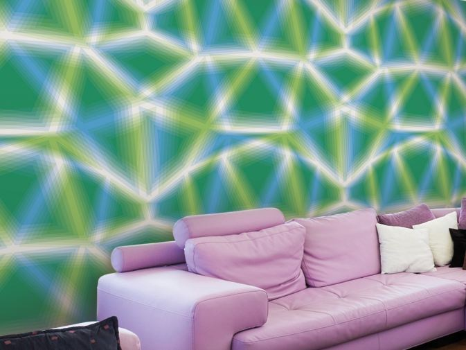 Optical vinyl wallpaper MUSE by GLAMORA