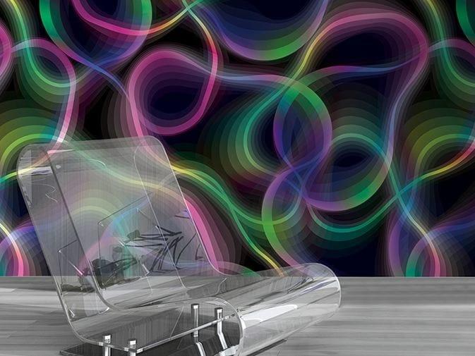 Optical vinyl wallpaper AURO by GLAMORA