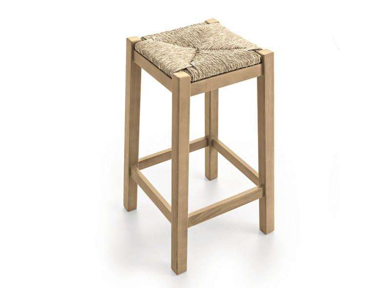 Straw stool with footrest PAESANA | Straw stool by Scandola Mobili