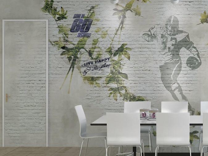 Brick effect vinyl wallpaper GLORIOUS! by GLAMORA