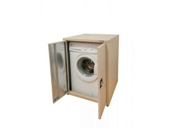Plate laundry room cabinet with hinged doors for washing machine Laundry room cabinet with hinged doors by Castellani.it