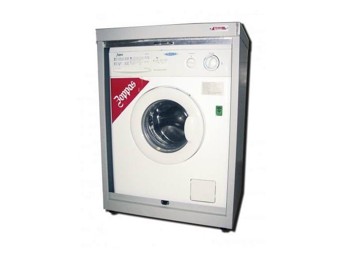 Mobile lavanderia in lamiera con ante a serrandina per lavatrice