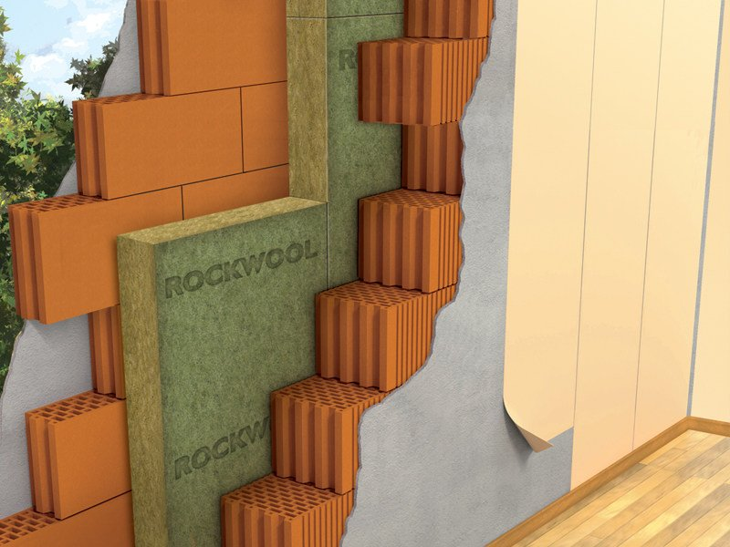 Thermal insulation panel / Sound insulation and sound absorbing panel in mineral fibre Pannello 226 by Rockwool Italia