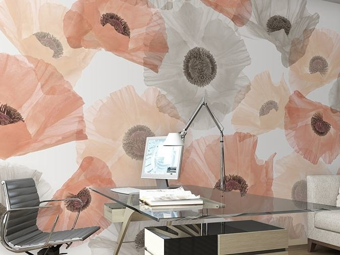 Vinyl wallpaper with floral pattern POPPYSICLE by GLAMORA