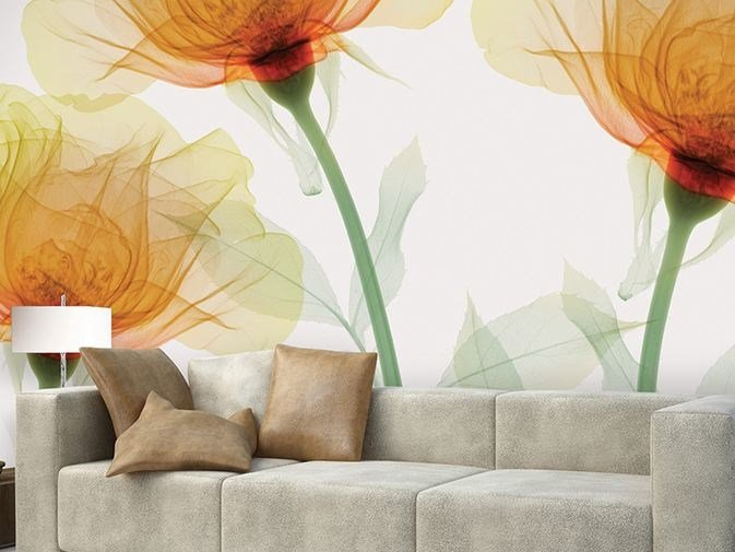 Vinyl wallpaper with floral pattern INNER SENSE by GLAMORA