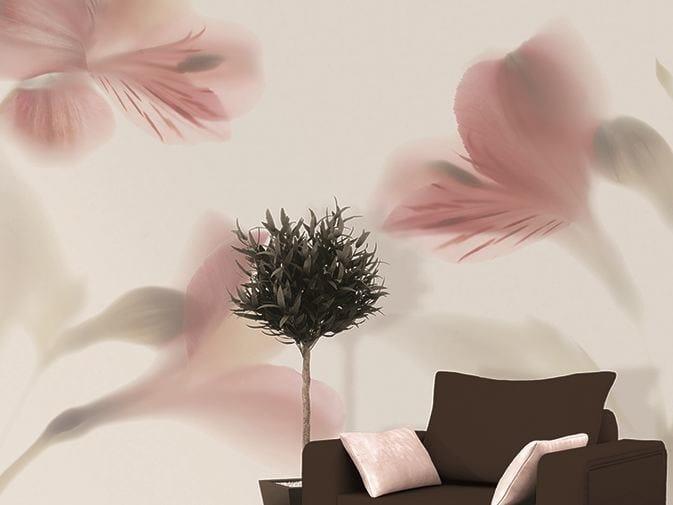 Vinyl wallpaper with floral pattern LAZY SUNDAE by GLAMORA