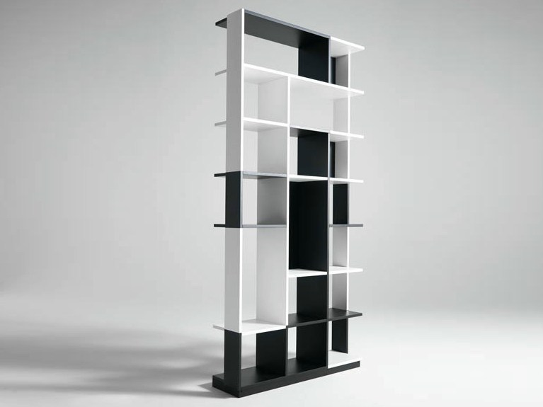 Sectional wooden bookcase SUDOKU by Casamania & Horm