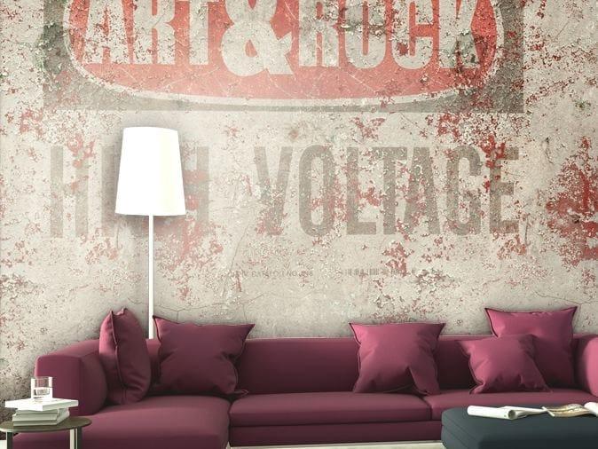 Wall effect vinyl wallpaper ART & ROCK by GLAMORA