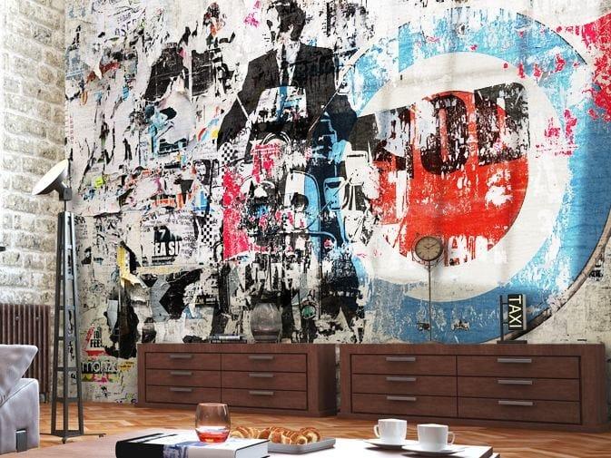 Brick effect vinyl wallpaper MOTOR PSYCHO by GLAMORA