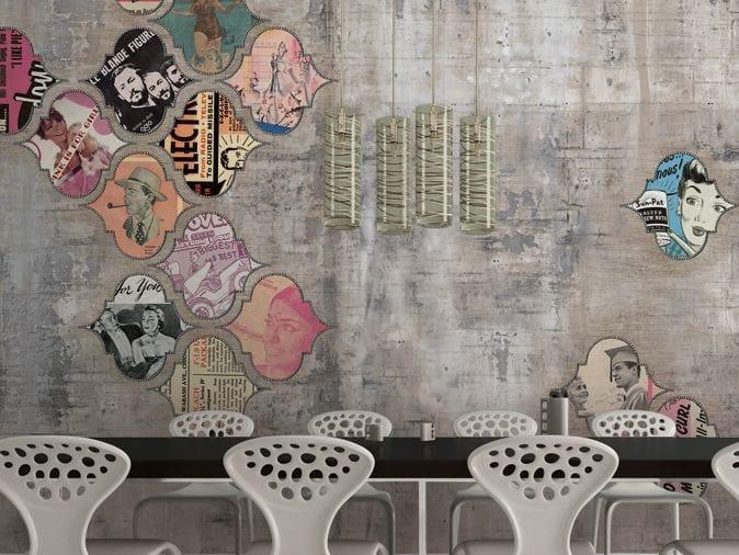 Wall effect vinyl wallpaper JUPITER 41 by GLAMORA