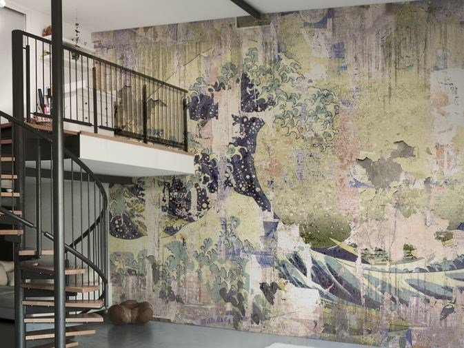 Wall Effect Vinyl Wallpaper New Wave By Glamora