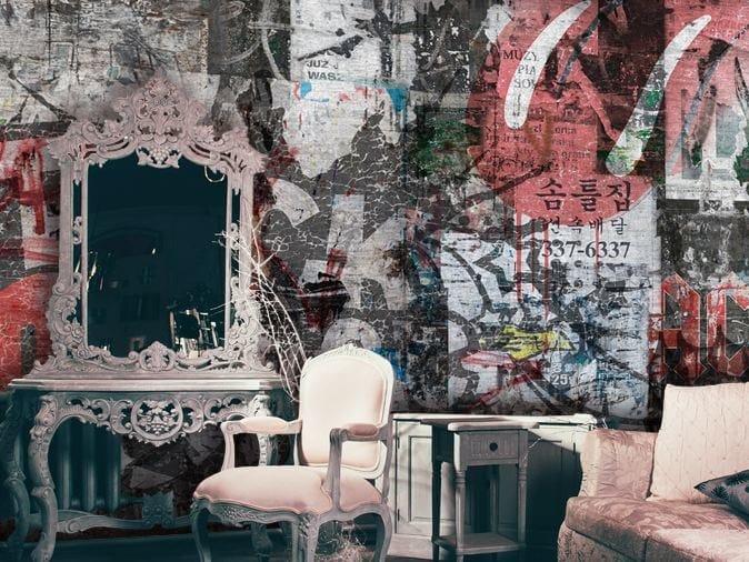 Wall effect vinyl wallpaper ROCKS OFF by GLAMORA