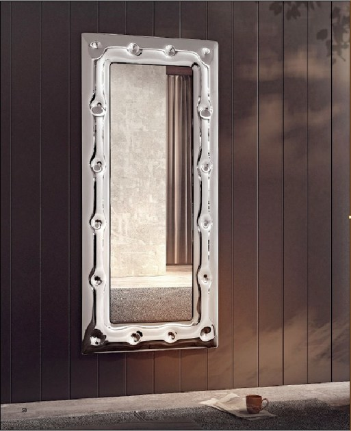 Wall-mounted framed mirror SUITE | Mirror by RIFLESSI