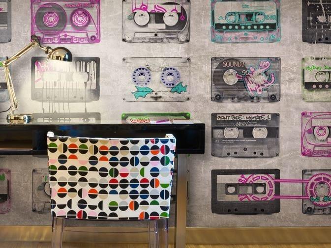 Motif vinyl wallpaper MIXTAPE by GLAMORA