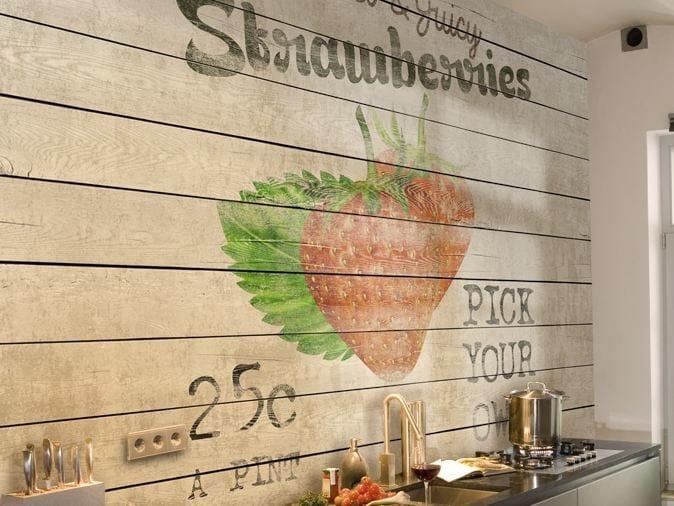 Wood effect vinyl wallpaper HARVEST by GLAMORA