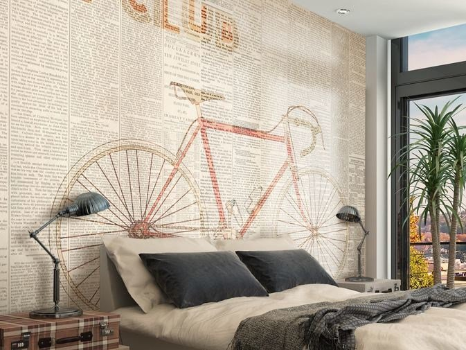 Writing vinyl wallpaper BIKE CLUB by GLAMORA