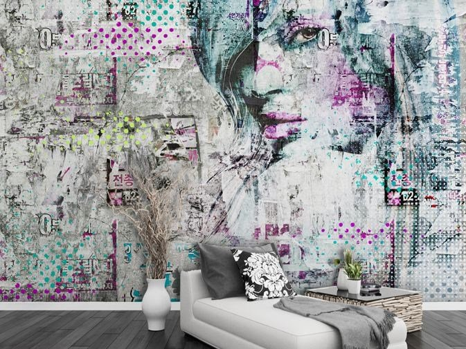Wall effect vinyl wallpaper SONIC YOUTH by GLAMORA