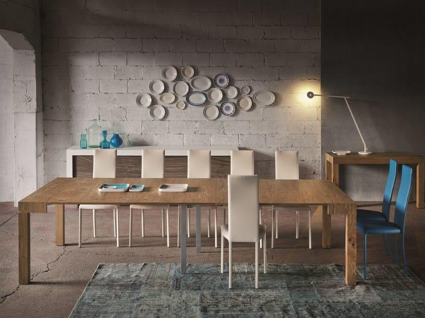 Extending rectangular console table PQR TWOOD | Extending console table by RIFLESSI
