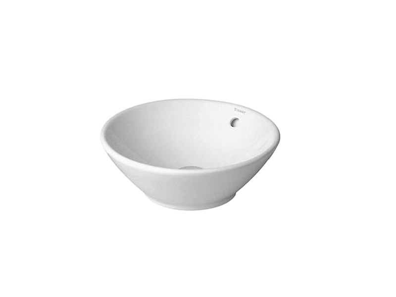 Countertop round washbasin with overflow BACINO | Round washbasin by Duravit