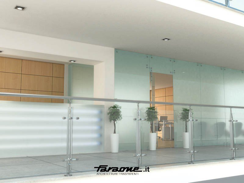 Glass and Stainless Steel balustrade ELISIR by FARAONE
