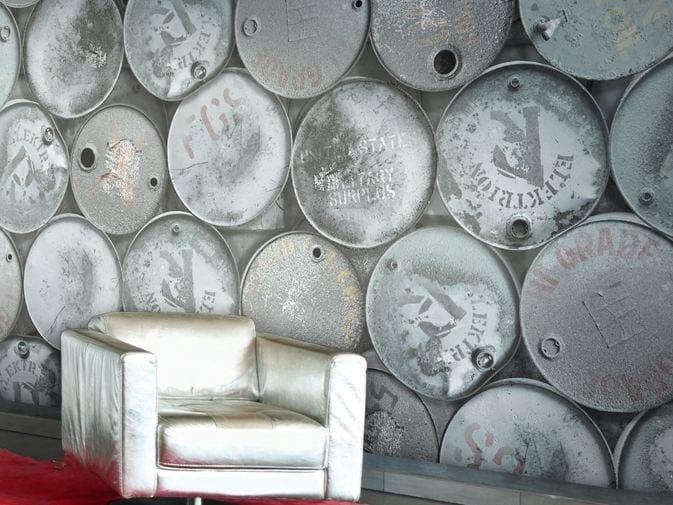 Motif vinyl wallpaper DRUM ROLLS by GLAMORA