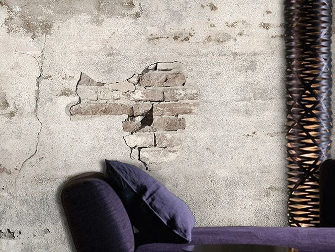 Wall effect vinyl wallpaper BRICK BY BRICK by GLAMORA