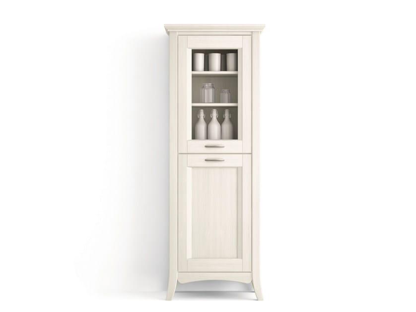 Solid wood bathroom cabinet / highboard ARCANDA | Highboard with doors by Scandola Mobili