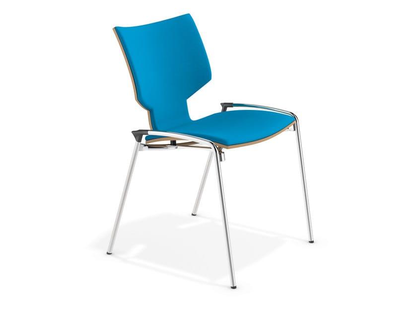 Cadeira empilhável de tecido LYNX I | Cadeira de tecido by Casala