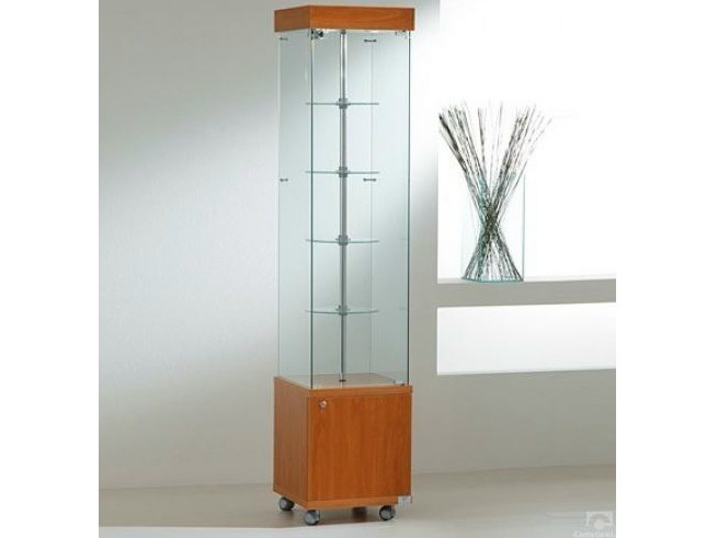 Retail display case with integrated lighting with castors VE40180MG | Retail display case by Castellani.it
