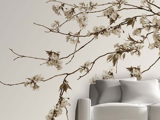 Vinyl wallpaper with floral pattern KOREAN BLOSSOM by GLAMORA