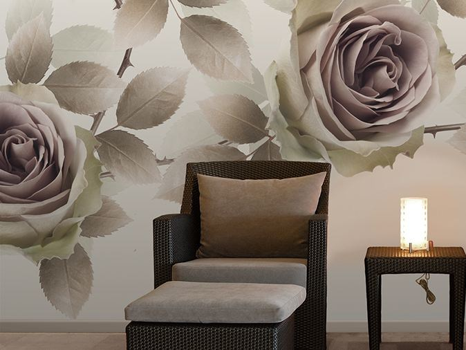 Vinyl wallpaper with floral pattern NEW ROMANTIC by GLAMORA