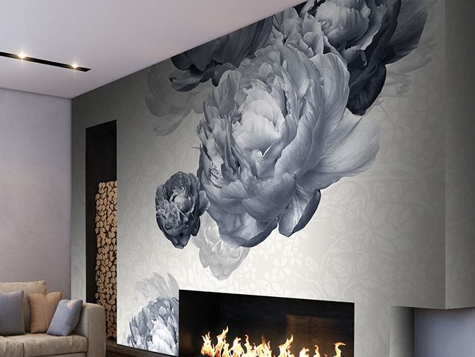 Vinyl wallpaper with floral pattern BOLSHOI by GLAMORA