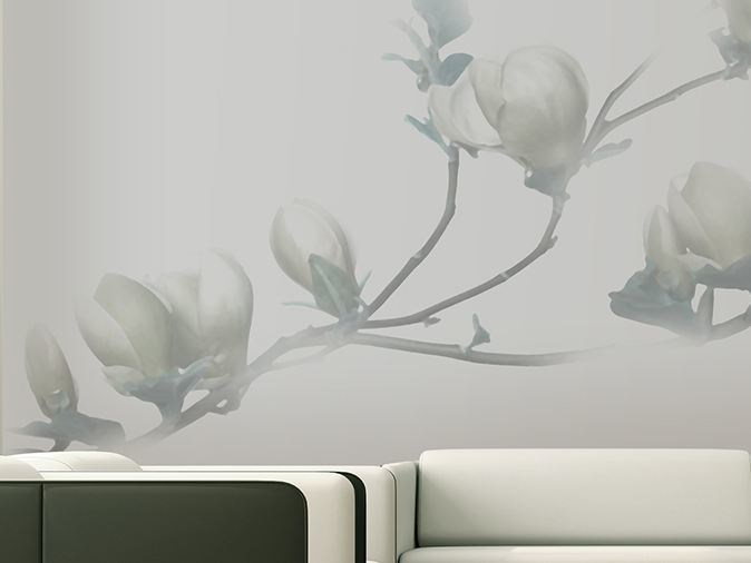 Vinyl wallpaper with floral pattern SOULANGE by GLAMORA