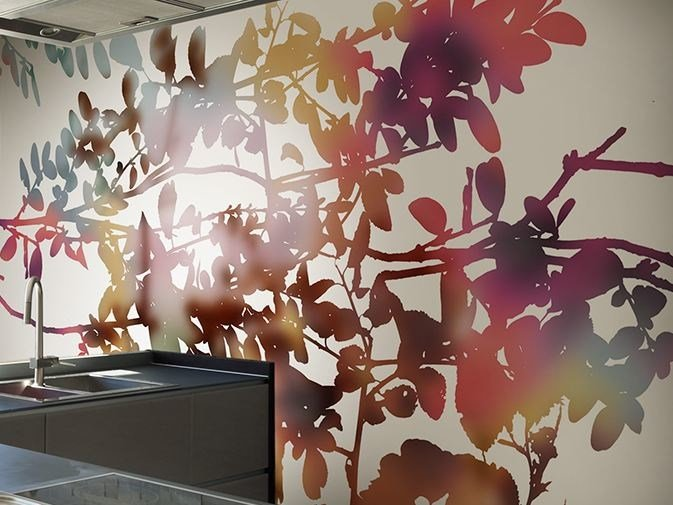 Vinyl wallpaper with floral pattern GHOST GARDEN by GLAMORA