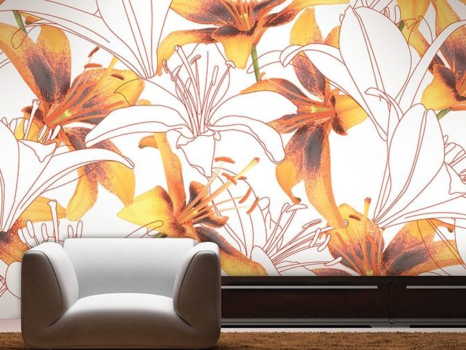 Vinyl wallpaper with floral pattern NORTHSTAR by GLAMORA
