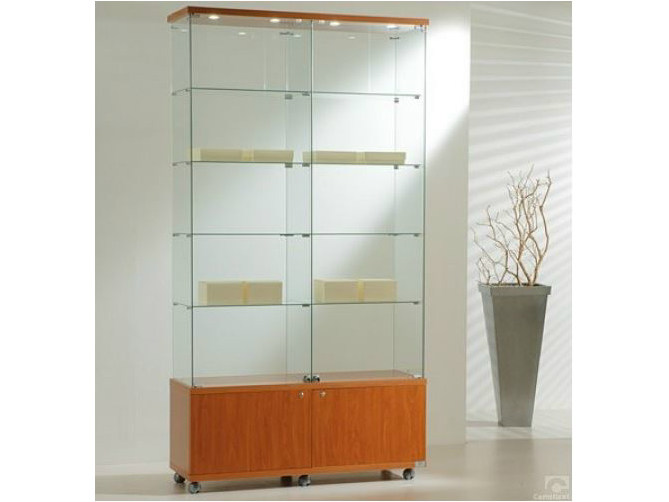 Retail display case with integrated lighting with castors VE120220FM | Retail display case by Castellani.it