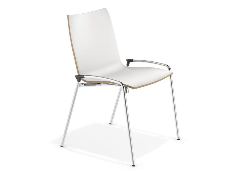 Cadeira de conferência em laminado LYNX II | Cadeira em laminado by Casala