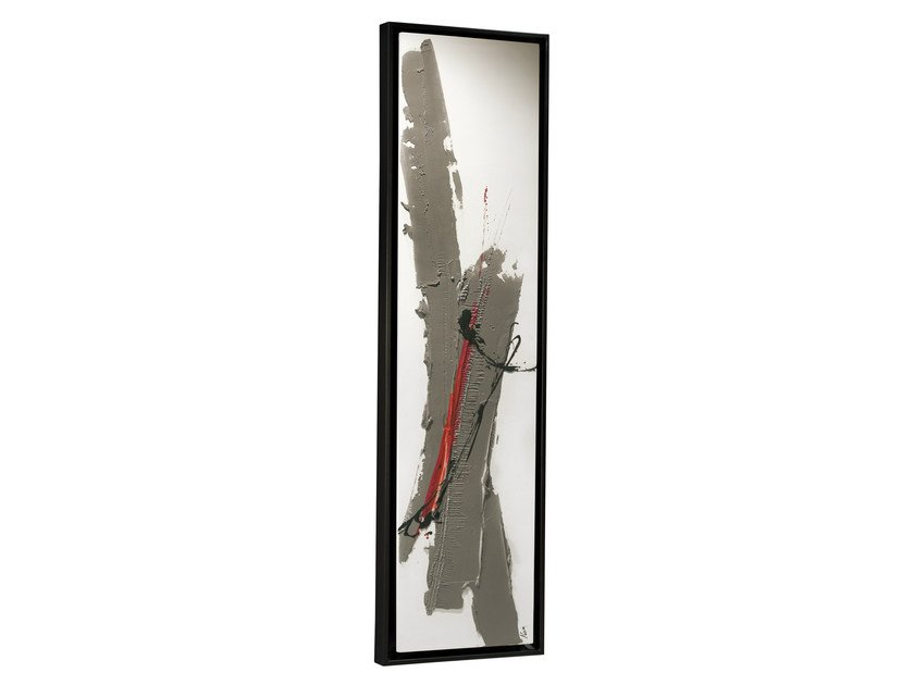 Wall-mounted Olycale® panel radiator GREENOR ROSEGREY by Cinier
