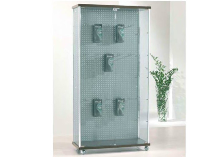 Retail display case with casters VE93/BL | Retail display case by Castellani.it