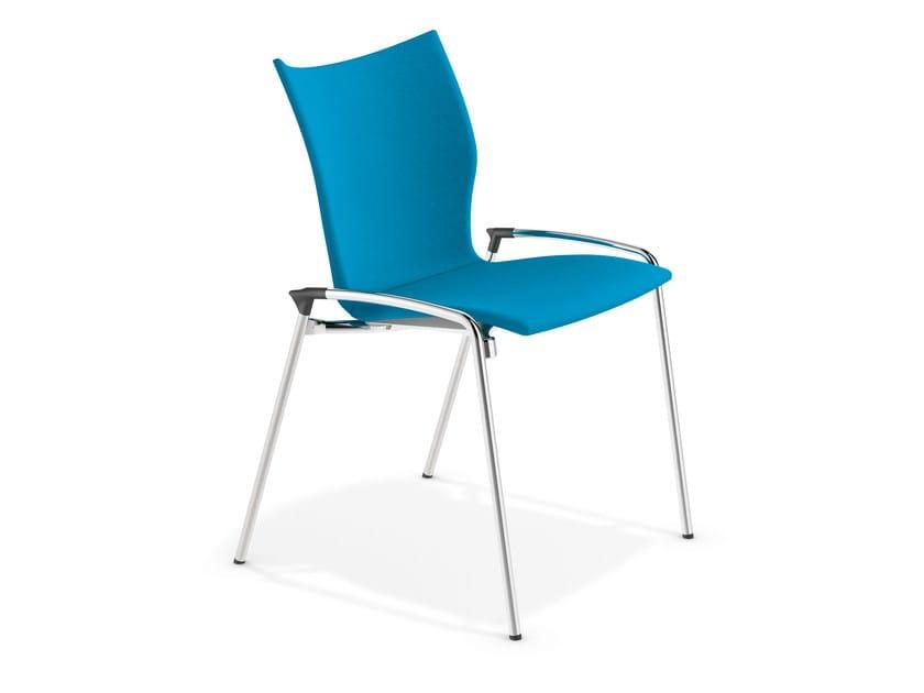 Fabric training chair LYNX III | Fabric chair by Casala