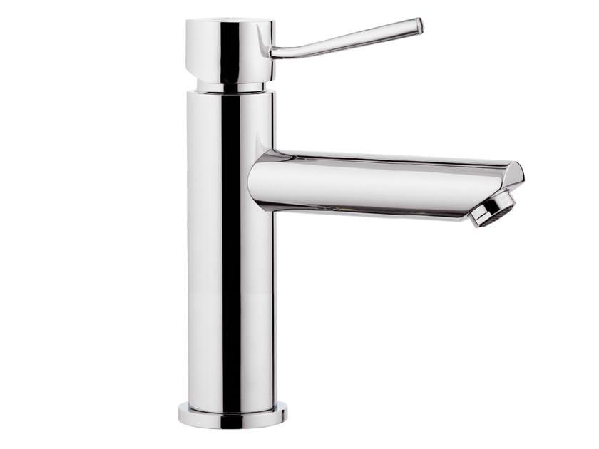 Countertop 1 hole washbasin mixer without waste MINIMAL   Countertop washbasin mixer by Remer Rubinetterie