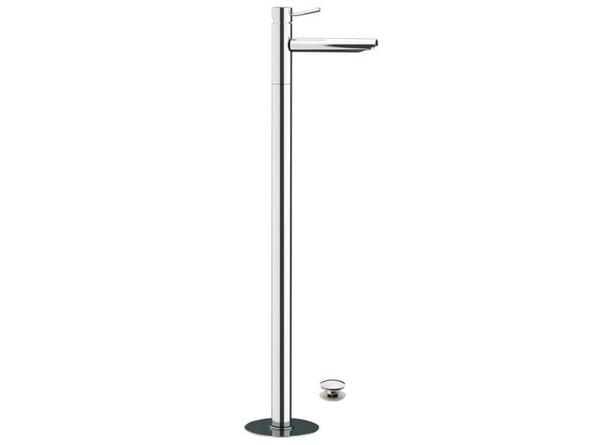 Floor standing single handle washbasin mixer MINIMAL | Floor standing washbasin mixer by Remer Rubinetterie