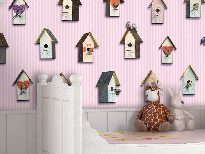Motif vinyl wallpaper BIRDWATCHING by GLAMORA